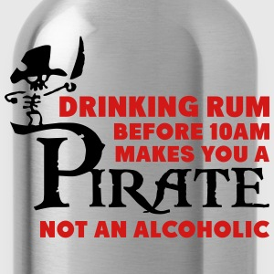 Drinking rum before 10am like a pirate T-Shirts - Water Bottle