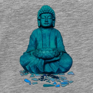 buddha blue Hoodies - Men's Premium T-Shirt