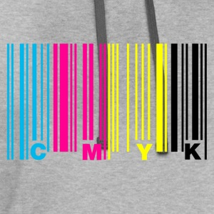 cmyk_barcode T-Shirts - Contrast Hoodie