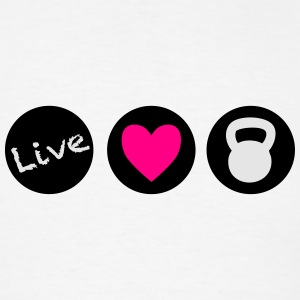 live love lift circles  Bottles & Mugs - Men's T-Shirt