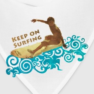 keep on surfing, grungy and blue waves T-Shirts - Bandana