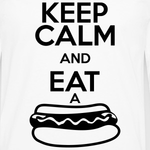 KEEP CALM AND EAT A HOT DOG T-Shirts - Men's Premium Long Sleeve T-Shirt