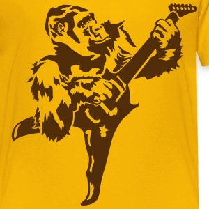 Gorilla with electric guitar Kids' Shirts - Toddler Premium T-Shirt