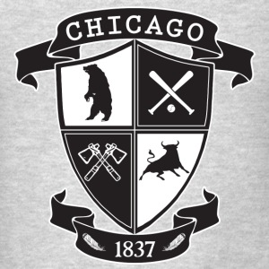 A Chicago Crest Long Sleeve Shirts - Men's T-Shirt