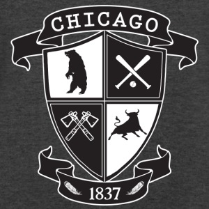 A Chicago Crest Long Sleeve Shirts - Men's V-Neck T-Shirt by Canvas