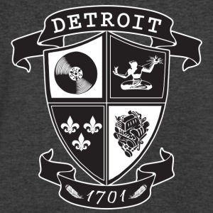 A Detroit Crest Long Sleeve Shirts - Men's V-Neck T-Shirt by Canvas