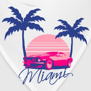 Mus Miami Beach Palms Logo Design T-Shirts - Bandana