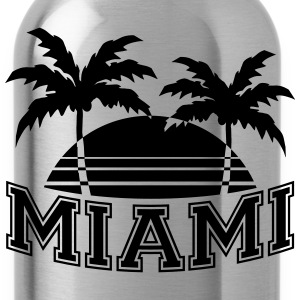 Miami Florida Palms T-Shirts - Water Bottle
