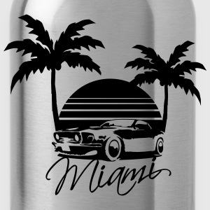 Mus Miami Beach Palms Logo Design Women's T-Shirts - Water Bottle