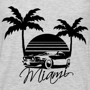 Mus Miami Beach Palms Logo Design Women's T-Shirts - Men's Premium Long Sleeve T-Shirt