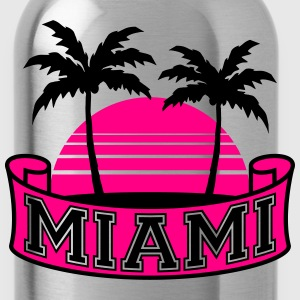 Miami Florida Palm Banner Logo Women's T-Shirts - Water Bottle