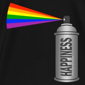 happiness spray can rainbow Bags & backpacks - Men's Premium T-Shirt