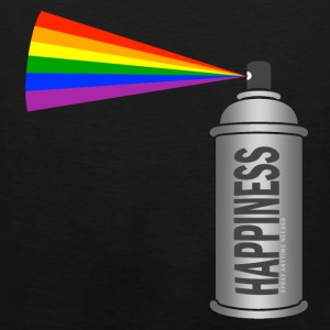 happiness spray can rainbow Bags & backpacks - Men's Premium Tank
