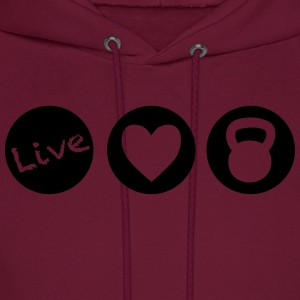 live love lift circles for weight lifting - Men's Hoodie