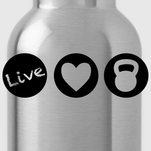 live love lift circles for weight lifting - Water Bottle