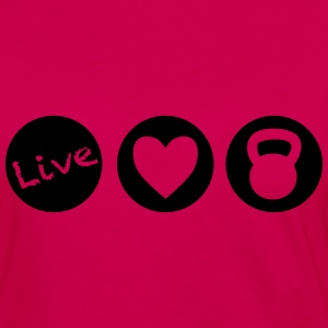 live love lift circles for weight lifting - Women's Premium Long Sleeve T-Shirt