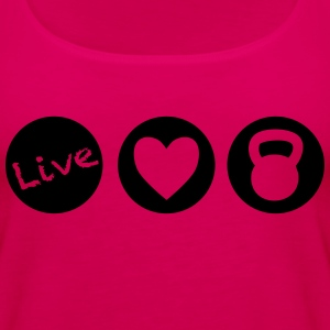 live love lift circles for weight lifting - Women's Premium Tank Top