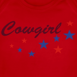 Cowgirls with stars Kids' Shirts - Short Sleeve Baby Bodysuit