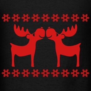 moose caribou reindeer rudolph snowflake elk Bags & backpacks - Men's T-Shirt