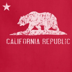California Republic Flag Distressed Kids' Shirts - Adjustable Apron