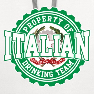 Property of Italian Drinking Team T-Shirts - Contrast Hoodie
