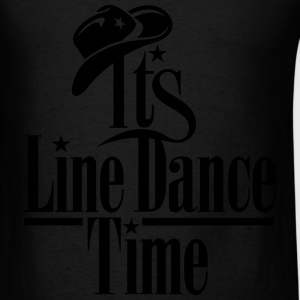 ITS LINE DANCE TIME, COWBOY HAT Bags & backpacks - Men's T-Shirt