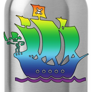 pirateship multicolor 2 Kids' Shirts - Water Bottle