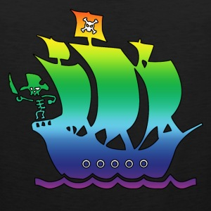 pirate ship multicolor 2 Kids' Shirts - Men's Premium Tank