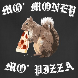 Funny Squirrel - ' Money ' Pizza - Adjustable Apron