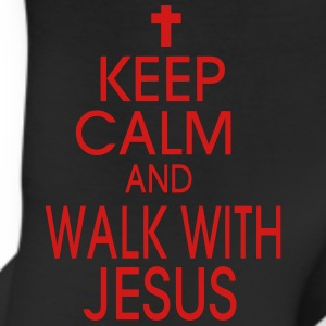 KEEP CALM AND WALK WITH JESUS Women's T-Shirts - Leggings