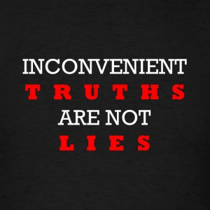 Inconvenient Truths (White and Red) Long Sleeve Shirts - Men's T-Shirt