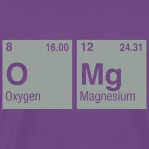 OMg written with Elements of the Periodic Table Hoodies - Men's Premium T-Shirt