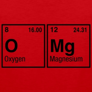 OMg written with Elements of the Periodic Table Women's T-Shirts - Men's Premium Tank