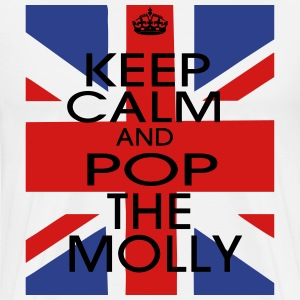 KEEP CALM AND POP THE MOLLY Hoodies - Men's Premium T-Shirt