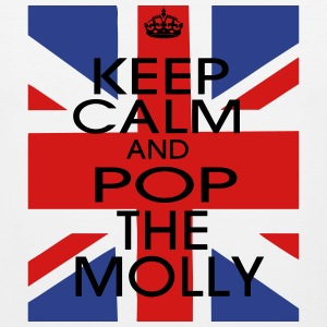 KEEP CALM AND POP THE MOLLY Long Sleeve Shirts - Men's Premium Tank