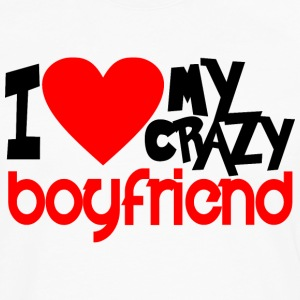I Love My Crazy Boyfriend - couple - Men's Premium Long Sleeve T-Shirt