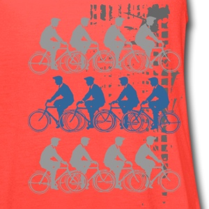 Bicycles Riding T-Shirts - Women's Flowy Tank Top by Bella