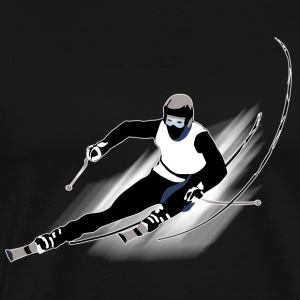 Skiing - Men's Premium T-Shirt