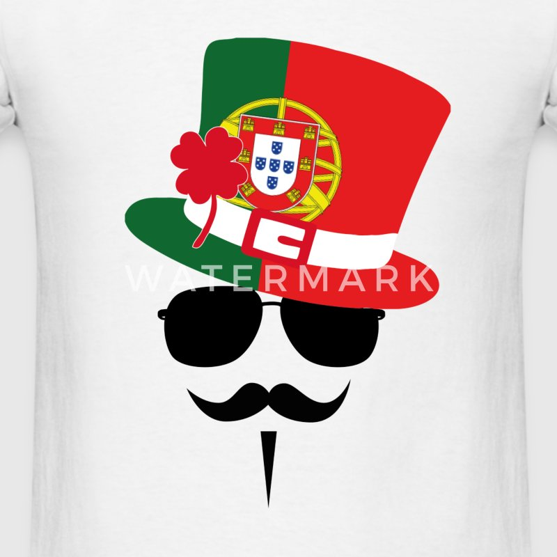Portugal Go Mustache Fan T-Shirts - Men's T-Shirt