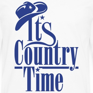 IT'S COUNTRY TIME Tanks - Men's Premium Long Sleeve T-Shirt