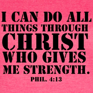 Philippians 4:13 fitted Tank - Women's Vintage Sport T-Shirt