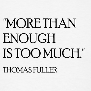 Thomas Fuller Quote (Black) Long Sleeve Shirts - Men's T-Shirt