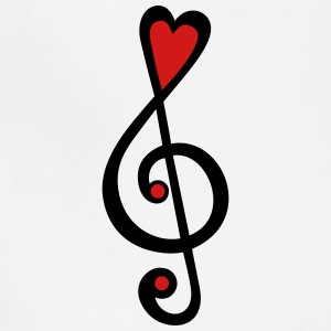 Music heart notes classic, treble clef, violin Hoodies - Adjustable Apron