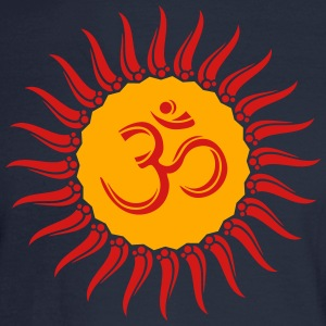 Om sun buddhism, yoga, spiritual, meditation, goa Hoodies - Men's Long Sleeve T-Shirt