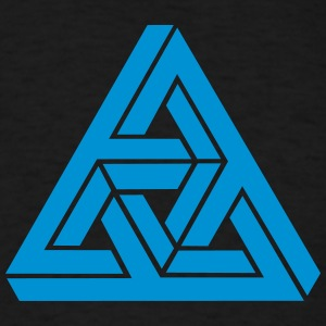 Impossible triangle optical illusion, Escher,  Hoodies - Men's T-Shirt