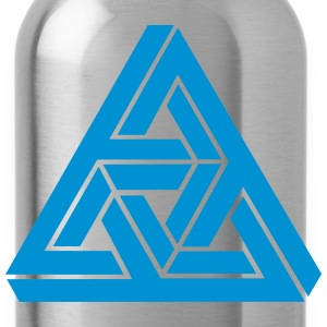 Impossible triangle optical illusion, Escher,  Hoodies - Water Bottle