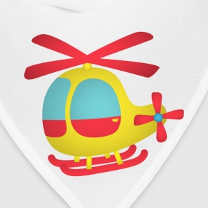 red and yellow cute helicopter for kids Kids' Shirts - Bandana