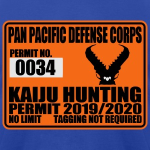 kaiju hunting permit Hoodies - Men's T-Shirt by American Apparel