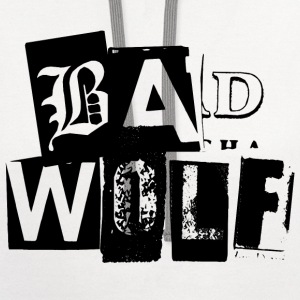 Doctor Who T-Shirts: Bad Wolf Typography Tee T-Shirts - Contrast Hoodie