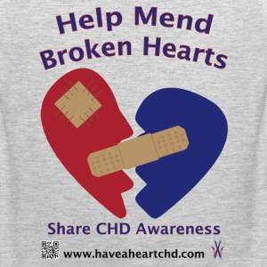 Mens Help Mend Broken Hearts CHD Premium T-Shirt - Men's Premium Tank